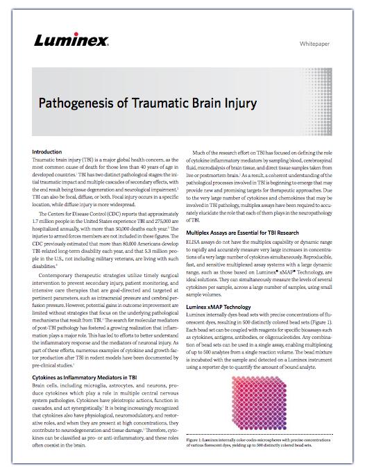 Pathogenesis of Traumatic Brain Injury
